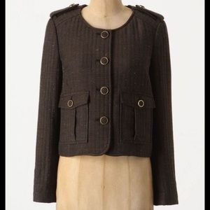 Anthropologie Cartonnier | Brown Pocket Jacket 0